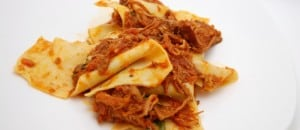 Taccozzette Con Stracotto (Pasta with Braised Pork Ragu)