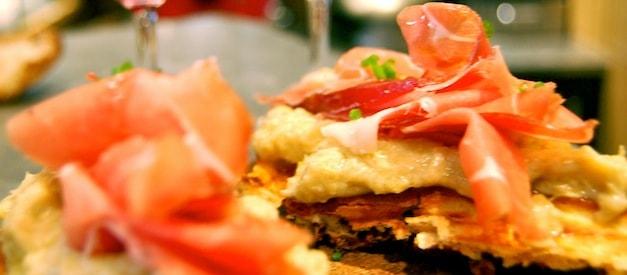 Waffle with Artichoke and Jambon