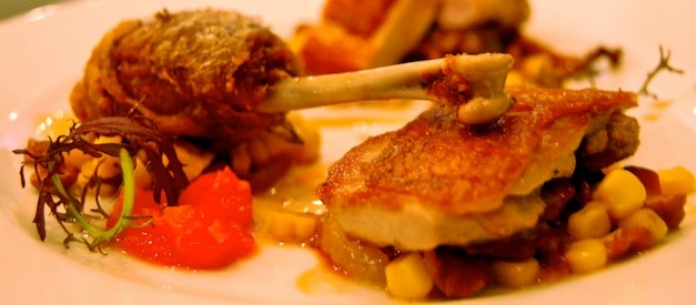 Guinea Hen with Corn and Roasted Tomatoes at L'Office Paris