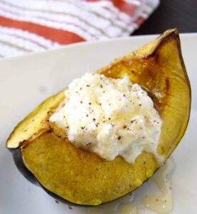 Roasted Acorn Squash with Ricotta and Honey