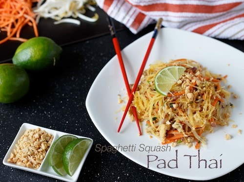 Healthy Spaghetti Squash Pad Thai