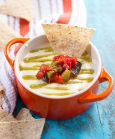 Ultimate Queso with Roasted Poblano Sauce