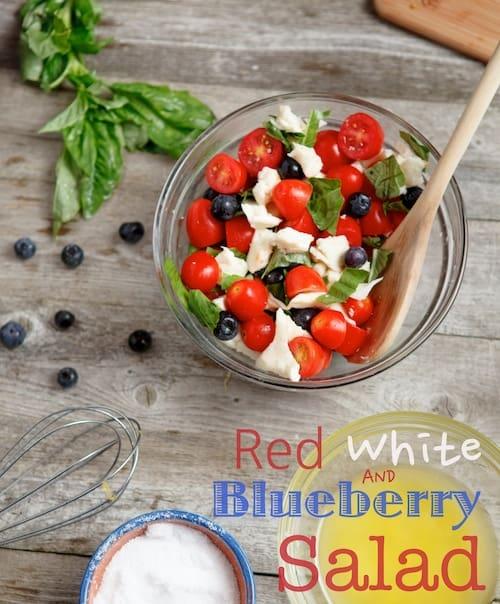 blueberry caprese salad