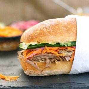 cambodian inspired sandwich / banh mi