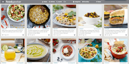food photo sharing sites