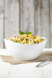 Simple Corn and Basil Salad