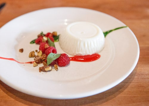 panna cotta at Incanto