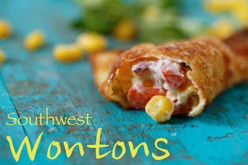 corn wontons