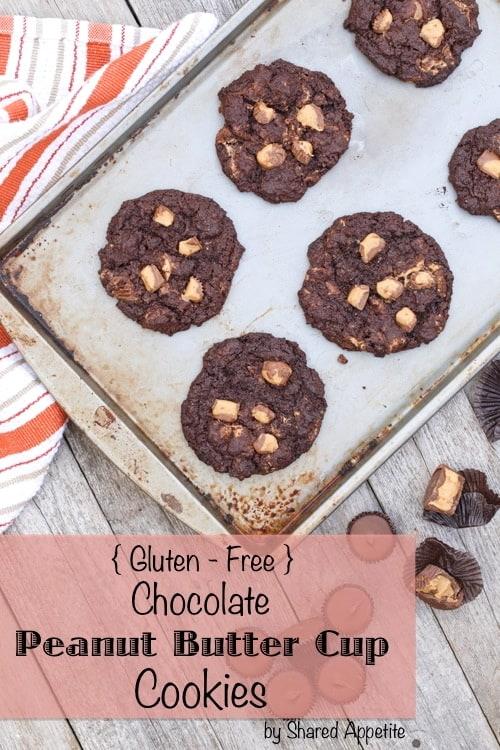 gluten free chocolate pb cookies