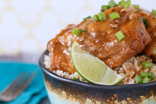 slow cooker honey sriracha chicken thighs