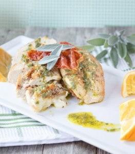 Pass the Prosciutto – Sage & Prosciutto Stuffed Chicken {Gluten Free}