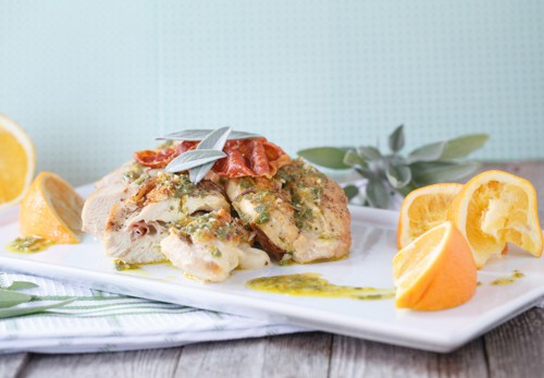gluten-free stuffed chicken