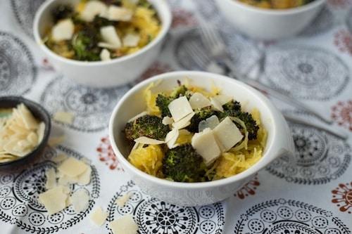 spaghetti squash with broccoli