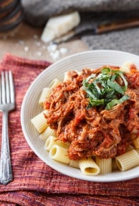 Pasta with Braised Pork Ragu {plus a $240 Le Creuset Braiser Giveaway!}
