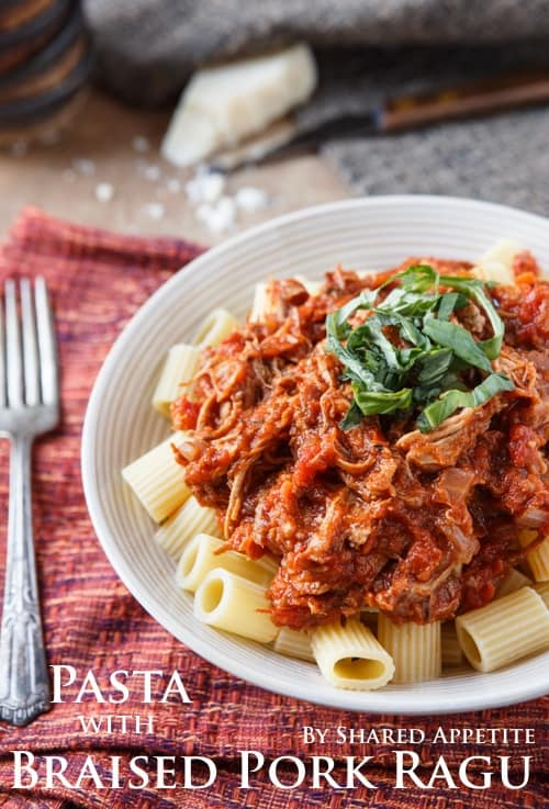 Pasta with Braised Pork Ragu {plus a $240 Le Creuset Braiser Giveaway ...