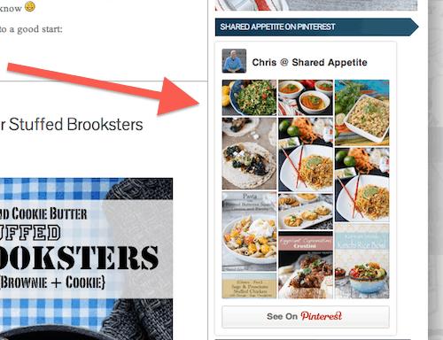 Pinterest Sidebar Widget