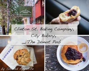 Clinton St. Baking Company, City Bakery, and The Donut Pub