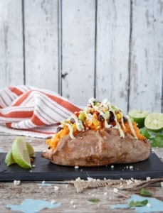 sweet potatoes with southwestern succotash