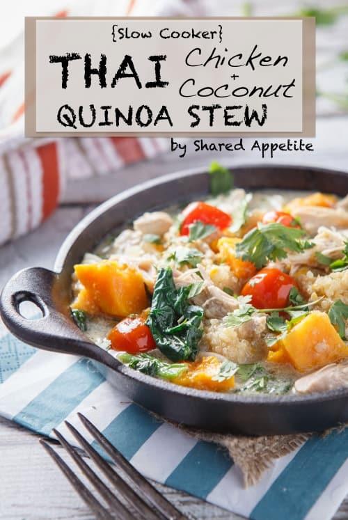 thai coconut chicken stew with quinoa