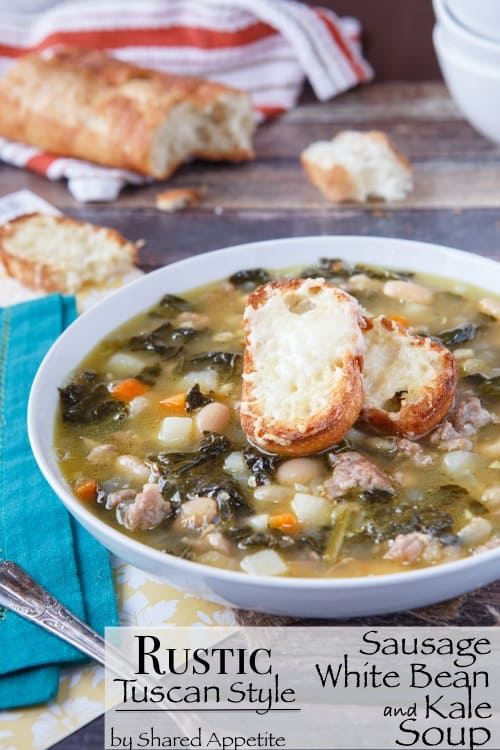Rustic Tuscan-Style Sausage, White Bean, and Kale Soup