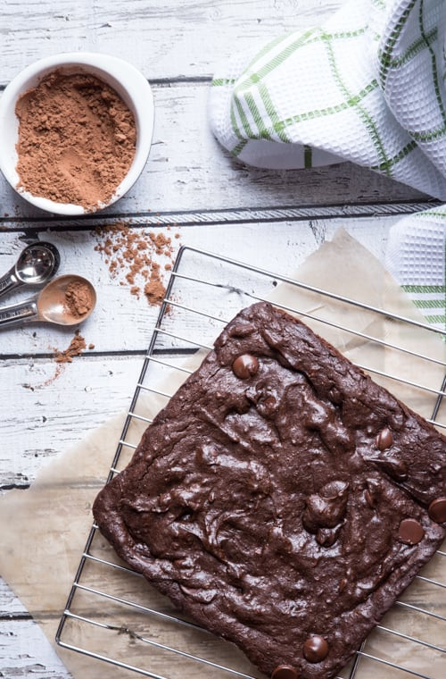 healthier avocado brownies {gluten-free}