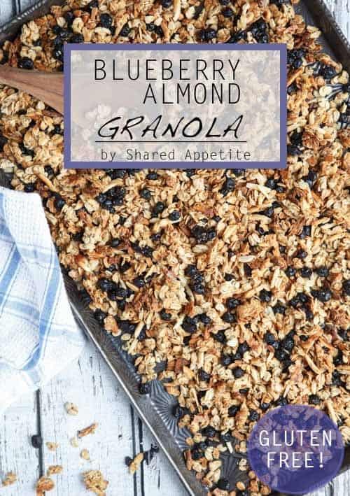 gluten-free blueberry almond granola