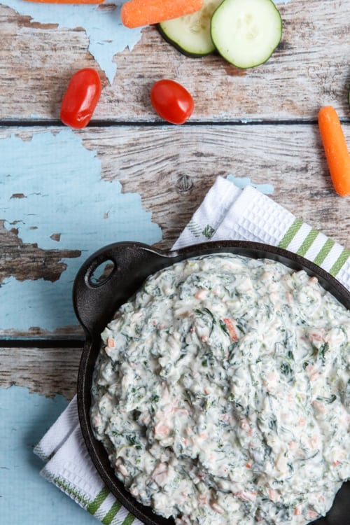 Healthy Spinach and Kale Greek Yogurt Dip copycat recipe from Trader Joe's