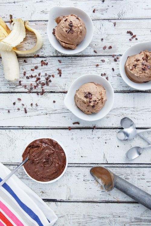 2 ingredient paleo nutella banana ice cream