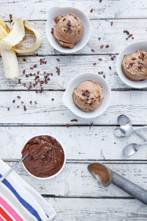 2 ingredient paleo nutella banana ice cream