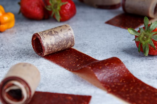 Spicy Strawberry Habanero Fruit Leather (fruit roll-up)