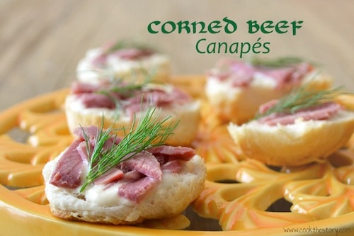 corned beef canapes