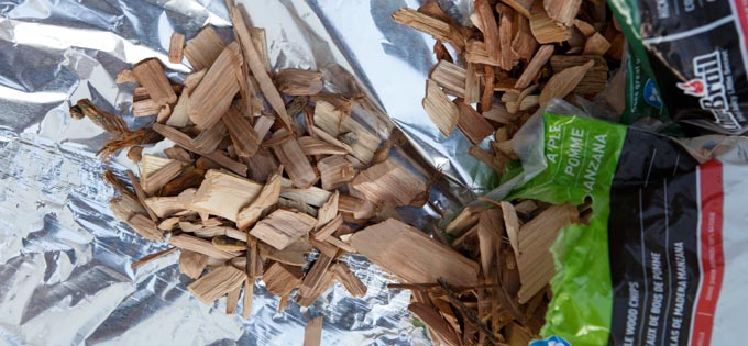 Creating a Foil Packet of Wood Chips