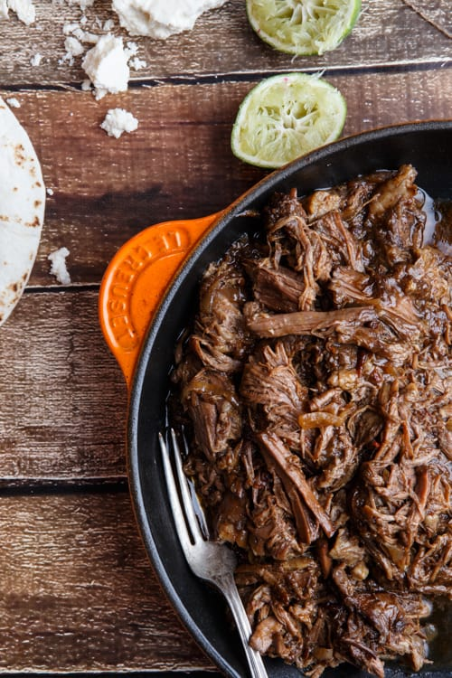Okay, sorry. Back to food. So this chipotle root beer beef barbacoa ...