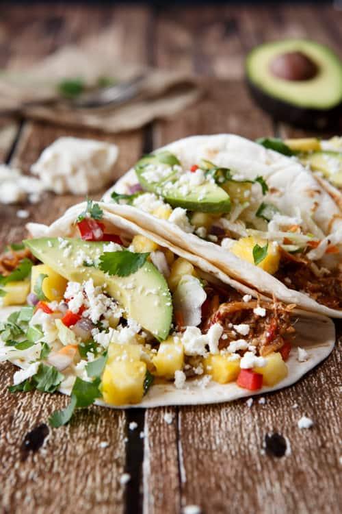Pulled Pork Tacos With Habanero Salsa Recipe — Dishmaps