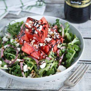 Watermelon, Feta, and Arugula Salad