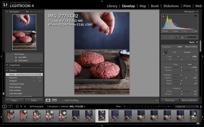 Adobe Lightroom for Food Bloggers