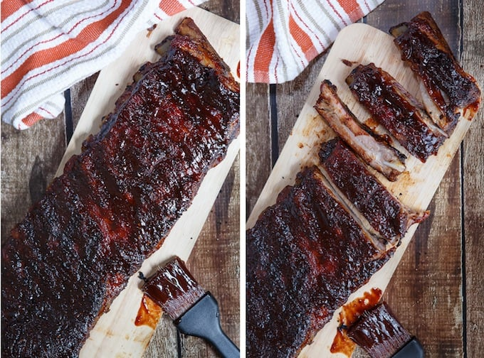 Smoked Pomegranate Chipotle BBQ Ribs