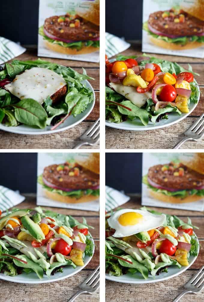 Spicy Black Bean Burger Southwest Salad Shared Appetite