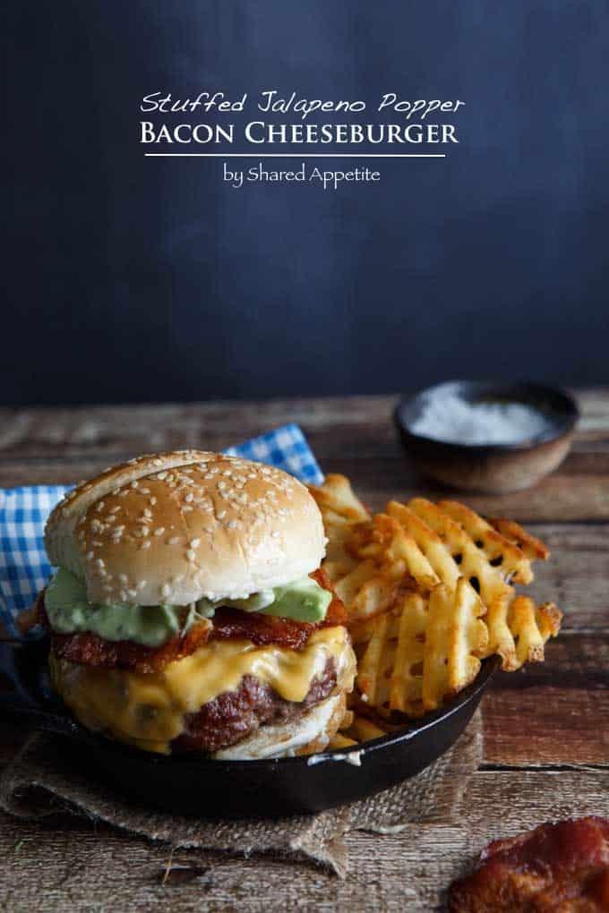Stuffed Jalapeno Popper Bacon Cheeseburger #shop