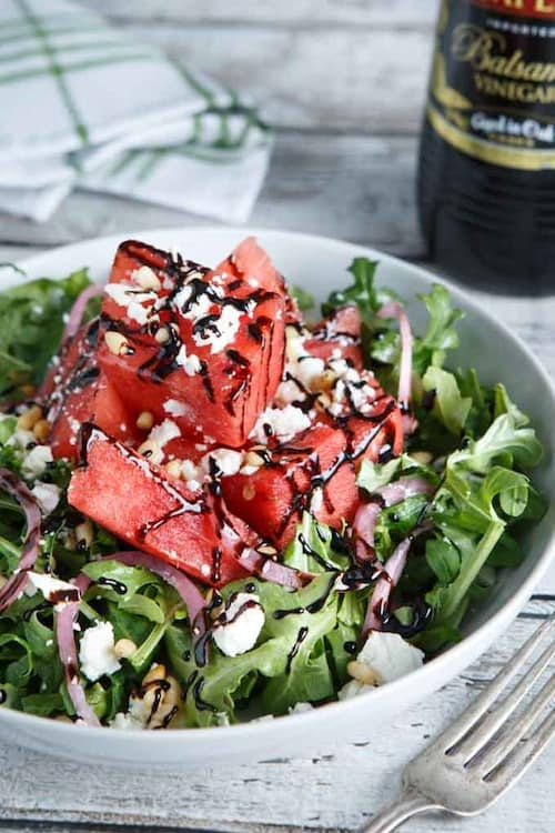 Watermelon, Feta, and Arugula Salad - Shared Appetite