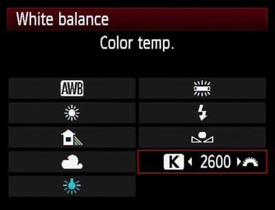White Balance on a Camera