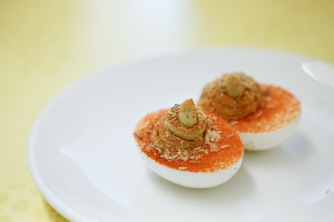 1000 Year Old Deviled Egg at Ivan Ramen, Lower East Side NYC