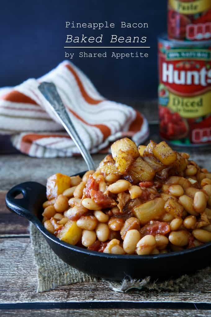 Summer Recipes: Pineapple Bacon Baked Beans - Shared Appetite