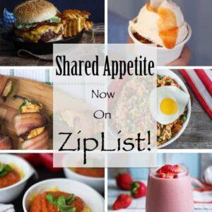 Shared Appetite Now on ZipList!!