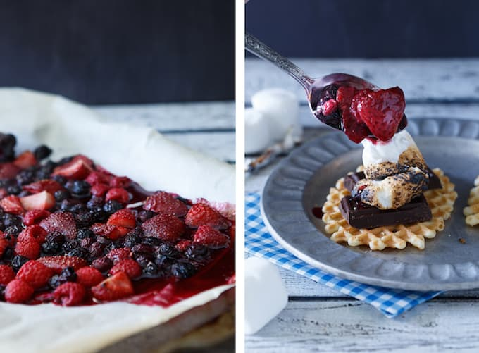 Roasted Berries S'mores