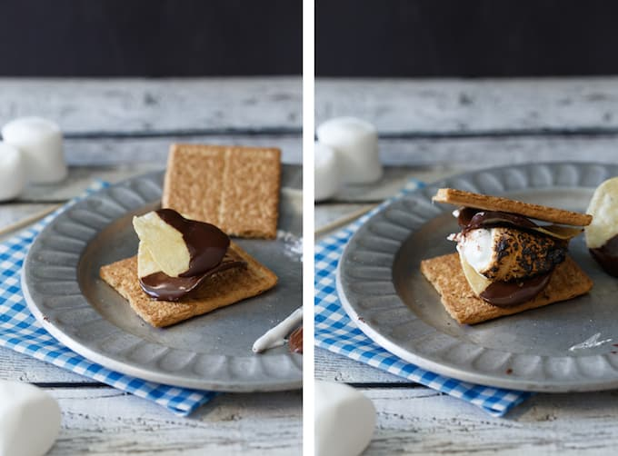 Chocolate Covered Potato Chip S'mores