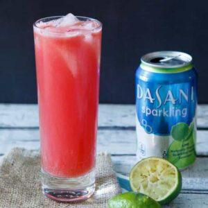 Watermelon Lime Sparkling Agua Fresca #SparkleWithDASANI