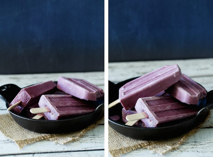 Blueberry Greek Yogurt Popsicles