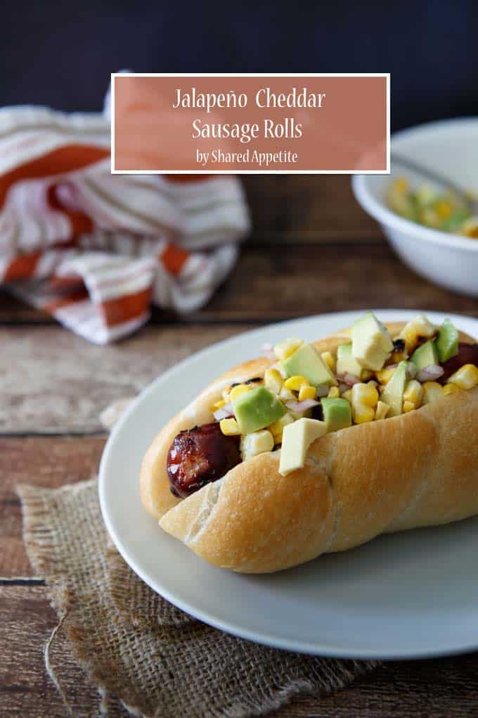 ... Jalapeño Cheddar Sausage Rolls with Roasted Corn and Avocado Salsa