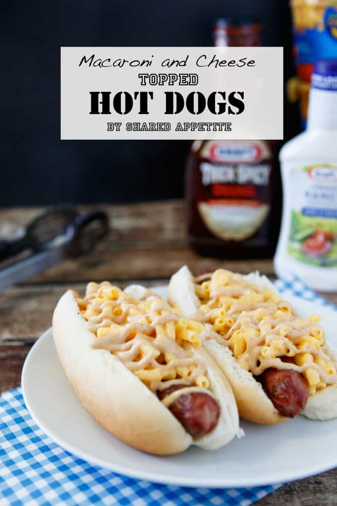 Macaroni and Cheese Topped Hot Dogs